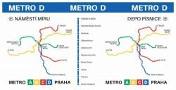 Hrnek s motivem linky metra D