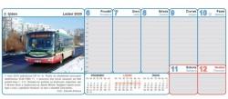 Stolní kalendář Autobusy a elektrobusy 2020