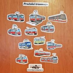 Samolepky pražských tramvají (arch A5)