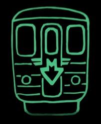 Černé dětské svítící triko s metrem Ečs