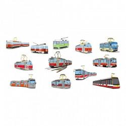 Hrnek s obrázky pražských tramvají