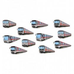 Hrnek s obrázky vozů pražského metra