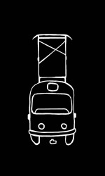 Černé pánské svítící triko s tramvají