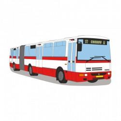 Rouška s potiskem autobusů Karosa B 941