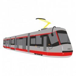 Rouška s potiskem tramvají Škoda 14T facelift