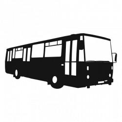 Rouška s potiskem 3D siluet autobusů Karosa B 732