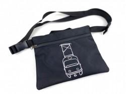 Crossbody taška s reflexním motivem tramvaje