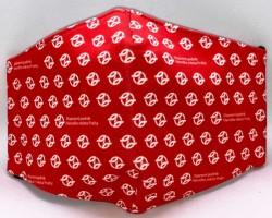 Červená rouška s logy DPP