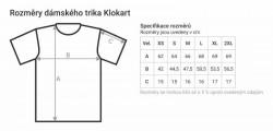 """Bílé dámské charitativní triko """"Klokart"""" (kolekce Transport)"""