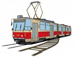 Polštář s tramvají ČKD Tatra KT8D5