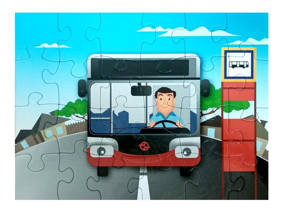 Dětské puzzle – autobus