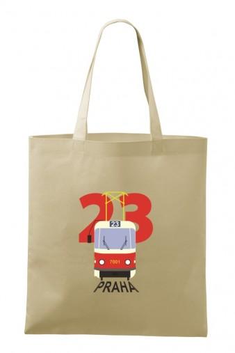 Bavlněná taška s motivem nostalgické linky 23