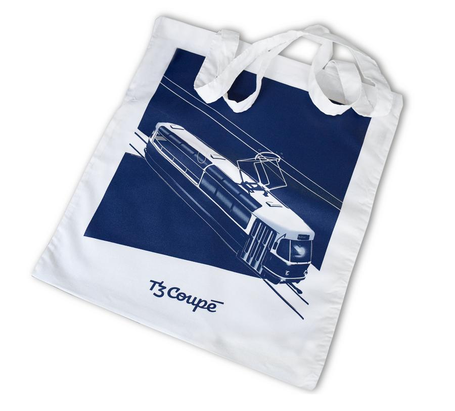 Bílá plátěná taška T3 Coupé