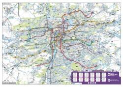 Nástěnná mapa pražské MHD 2020
