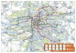 Nástěnná mapa pražské MHD 2021