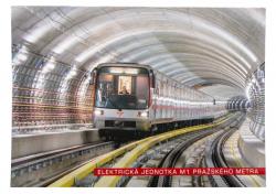 Pohlednice Elektrická jednotka M1 pražského metra