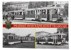 Pohlednice Pražské dvounápravové tramvaje