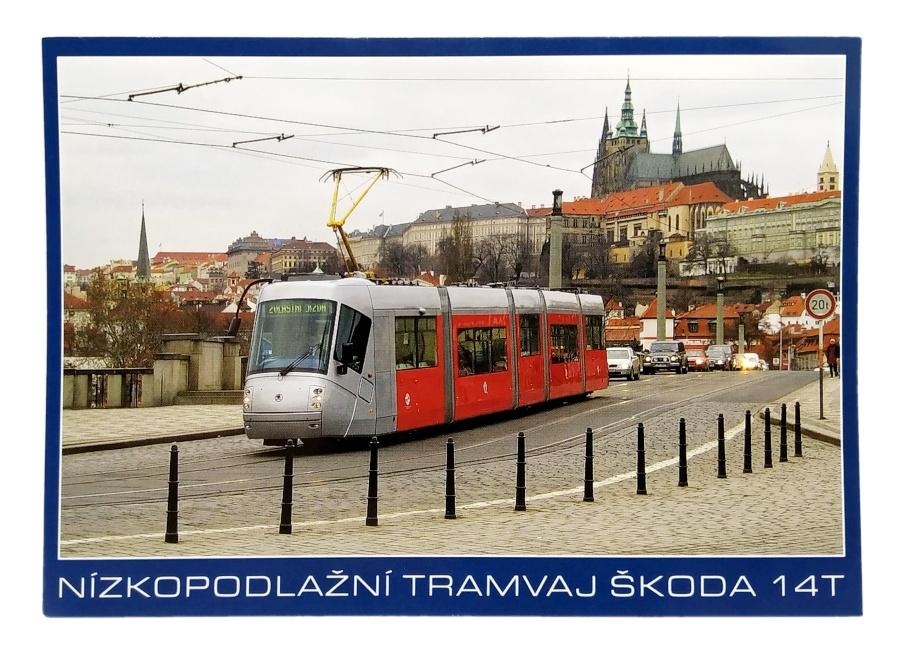 Pohlednice Nízkopodlažní tramvaj Škoda 14T