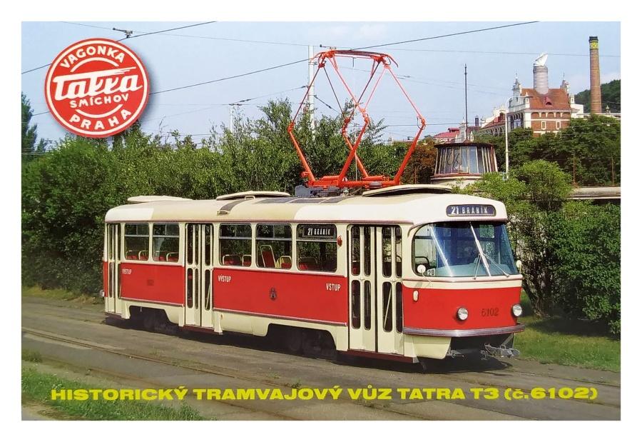 Pohlednice Historický tramvajový vůz Tatra T3