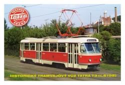 Pohlednice Historický tramvajový vůz Tatra T3 (č. 6102)