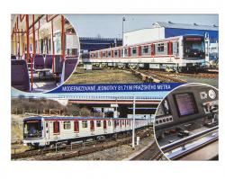 Pohlednice Modernizované jednotky 81-71 M pražského metra