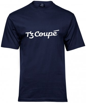 Pánské triko s logem tramvaje T3 Coupé (modré)