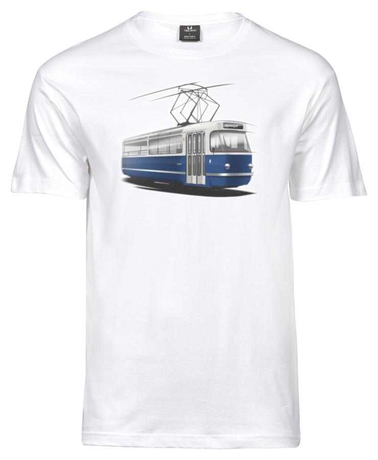 Pánské triko s grafikou tramvaje T3 Coupé