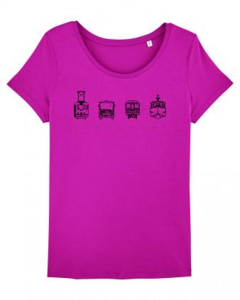 "Růžové dámské charitativní triko ""Klokart"""