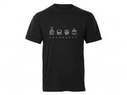 """Černé pánské charitativní triko """"Klokart"""""""