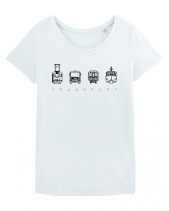 "Bílé dámské charitativní triko ""Klokart"""