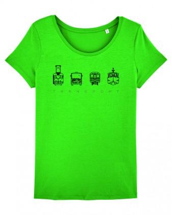 """Zelené dámské charitativní triko """"Klokart"""""""