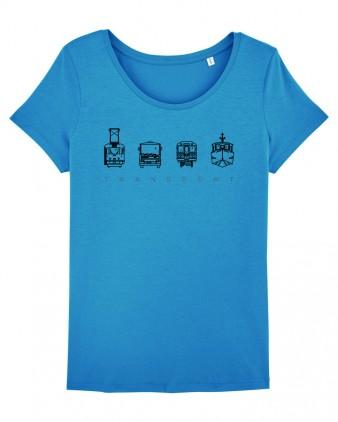 "Modré dámské charitativní triko ""Klokart"""