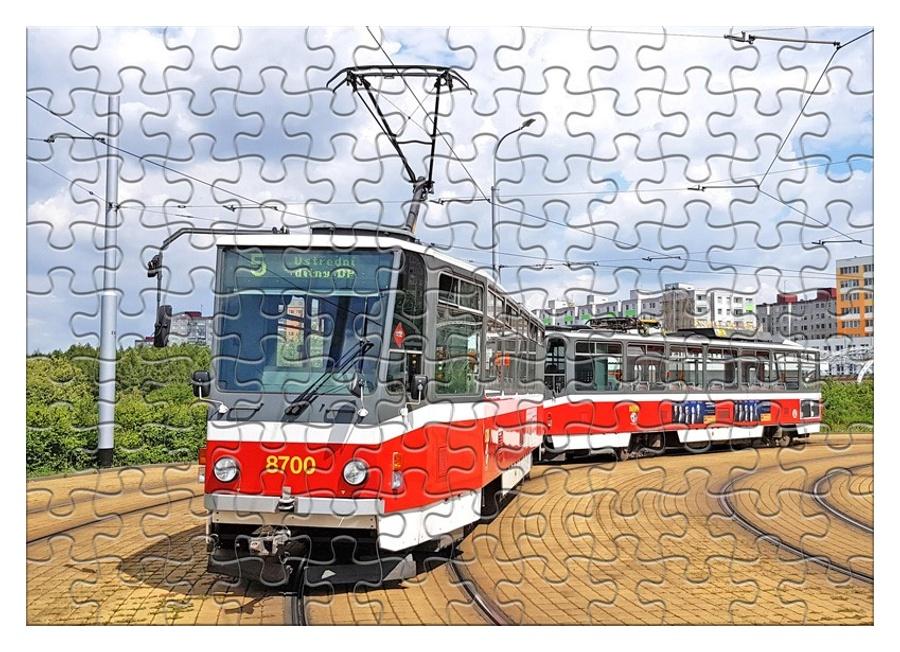 Puzzle Tramvaj ČKD Tatra T6A5 (A4)