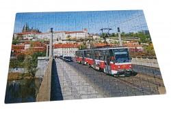 Puzzle ČKD Tatra T6 pod Pražským hradem (A3)