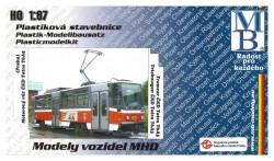 Stavebnice modelu tramvaje ČKD Tatra T6A5 (H0)