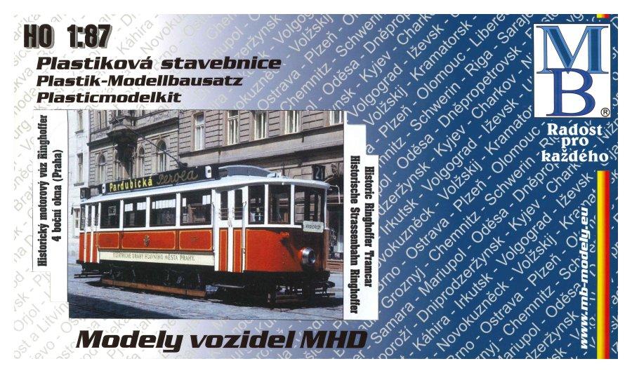 Stavebnice modelu tramvaje Ringhoffer (4 okna) (H0)