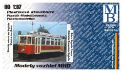 Stavebnice modelu tramvaje Ringhoffer (5 oken) (H0)