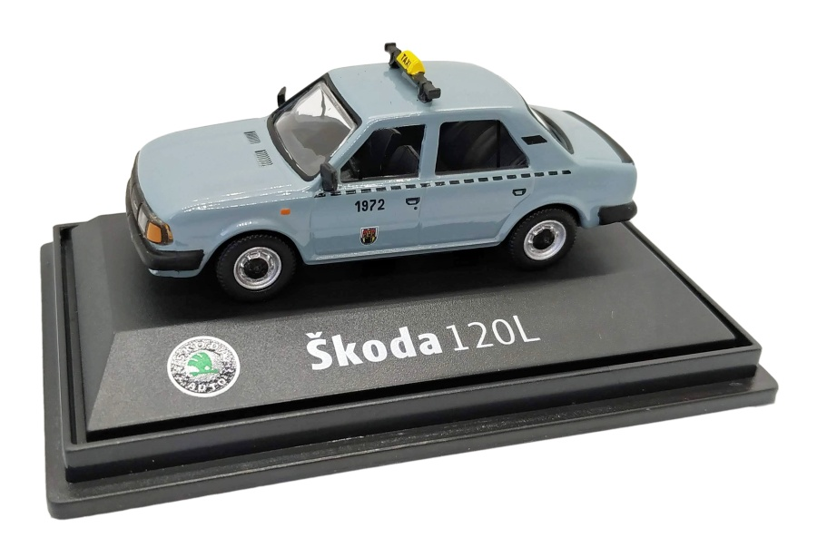 Model Škoda 120 L Taxi DP (1 : 72) šedé
