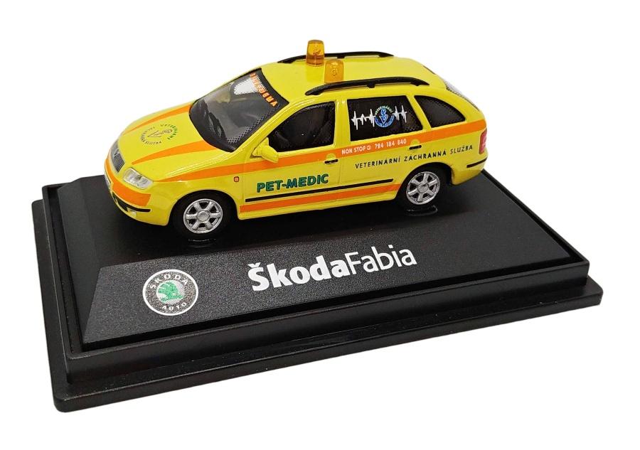 Model Škoda Fabia Pet Medic (1 : 72)
