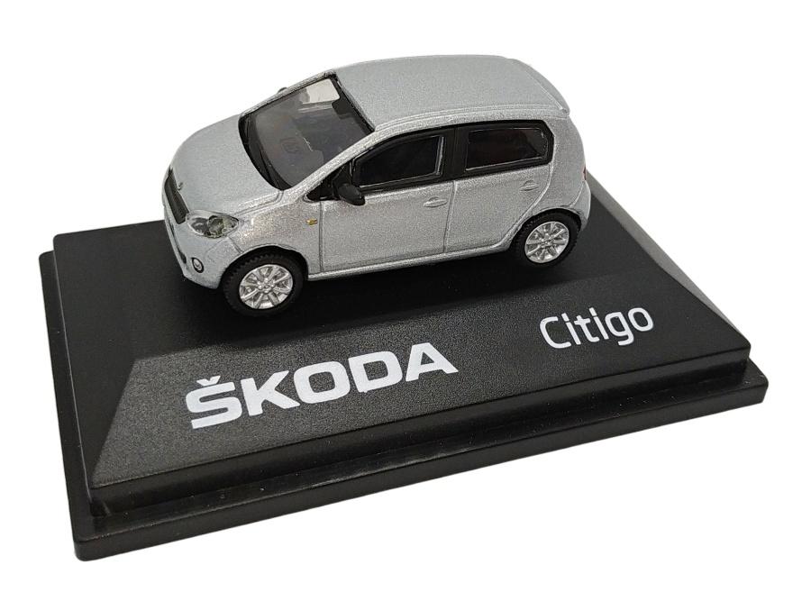 Model Škoda Citigo (1 : 72) stříbrné