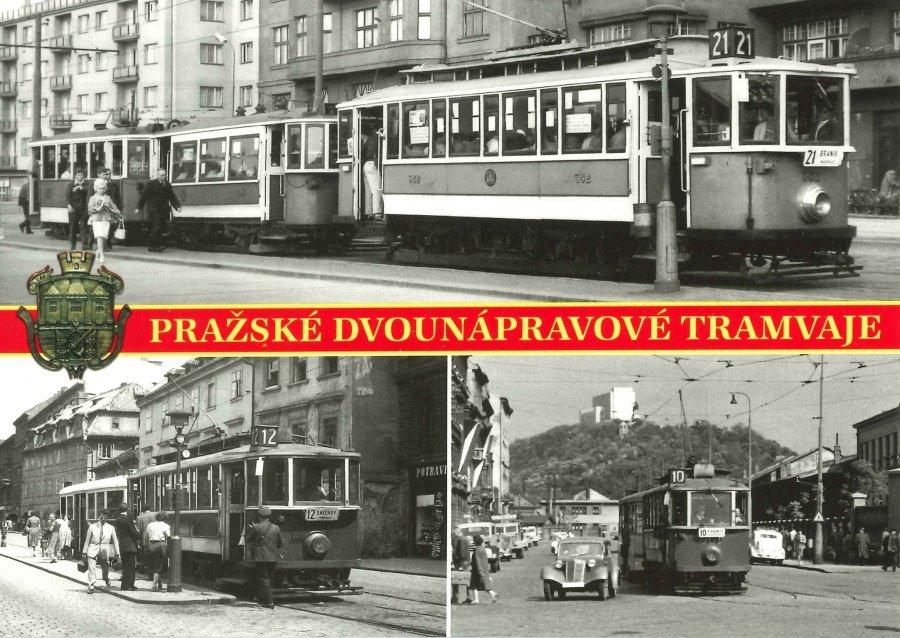 Pohlednice Pražské dvounápravové tramvaje I