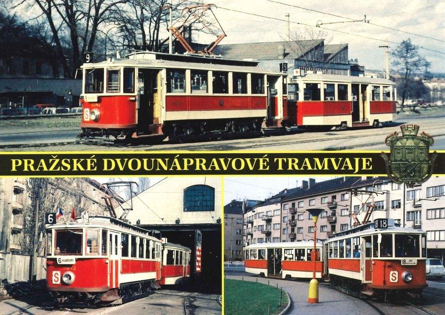 Pohlednice Pražské dvounápravové tramvaje II