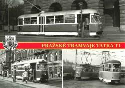 Pohlednice Pražské tramvaje T1