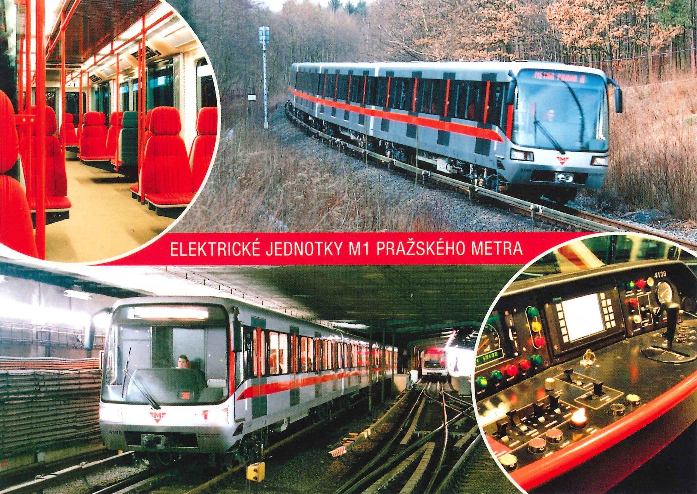 Pohlednice Elektrické jednotky M1