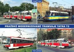 Pohlednice Pražské modernizované tramvaje Tatra T3