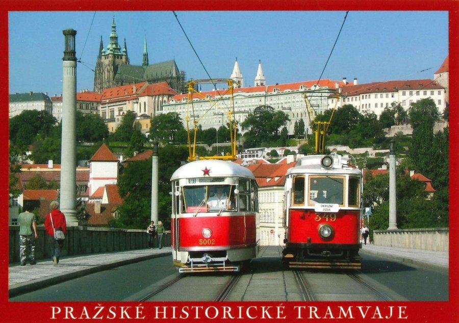 Pohlednice Pražské historické tramvaje 2