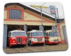 Podložka pod myš pražské muzejní autobusy