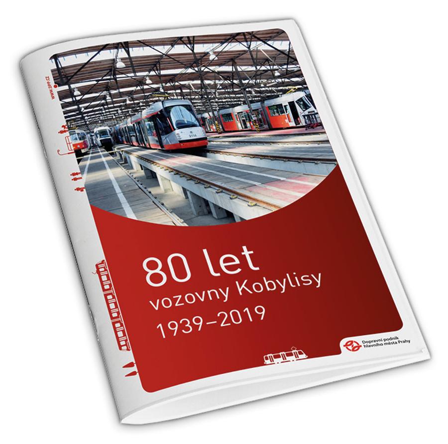 Brožura 80 let vozovny Kobylisy 1939–2019