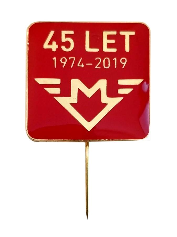 Odznak 45 let pražského metra 1974–2019