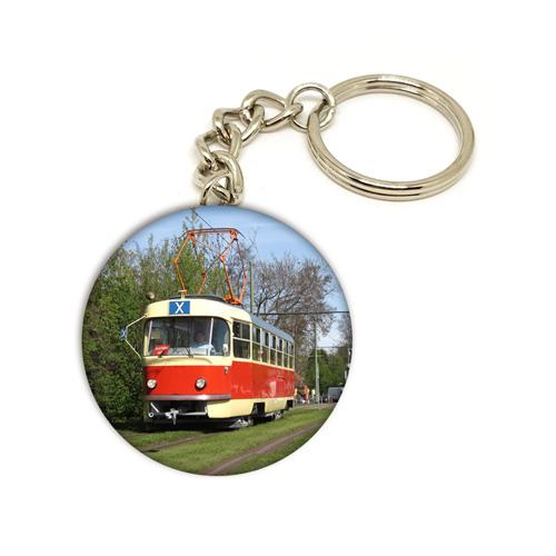 Přívěsek na klíče s tramvají T3 (linka náhradní dopravy X)